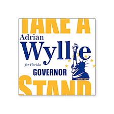 """Adrian Wyllie Square Sticker 3"""" x 3"""""""