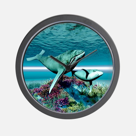 Humpback Whales Wall Clock