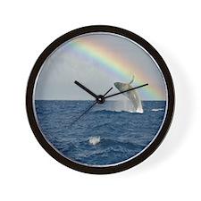 Humpback Whale RAINBOW Wall Clock