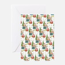 cute christmas owls pattern Greeting Card