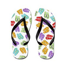 colorful  beach print Flip Flops