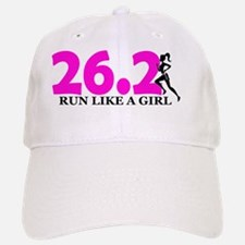 Run Like a Girl 26.2 Baseball Baseball Cap
