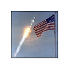 """Apollo 11 Square Sticker 3"""" x 3"""""""