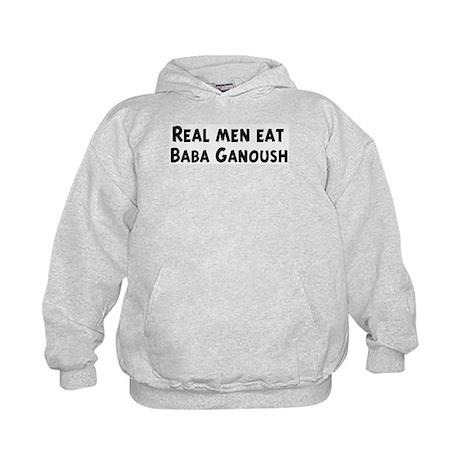 Men eat Baba Ganoush Kids Hoodie