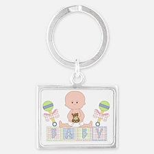 Cute Bald Baby Landscape Keychain