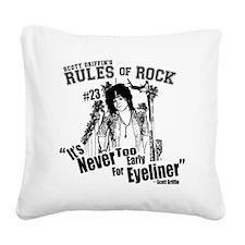Scott Griffins Rules of Rock  Square Canvas Pillow