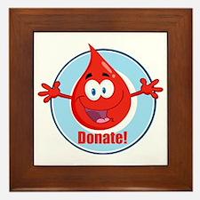 donate blood cartoon Framed Tile