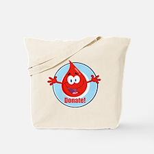 donate blood cartoon Tote Bag