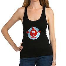 donate blood cartoon Racerback Tank Top