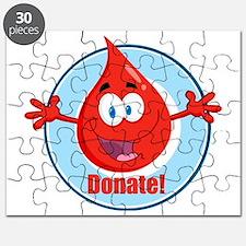 donate blood cartoon Puzzle