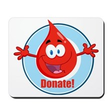 donate blood cartoon Mousepad