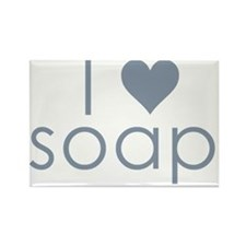 I ? Soap Rectangle Magnet