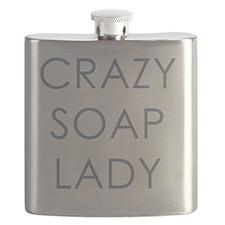 Crazy Soap Lady Flask