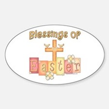 Easter Religion Blessings Oval Decal
