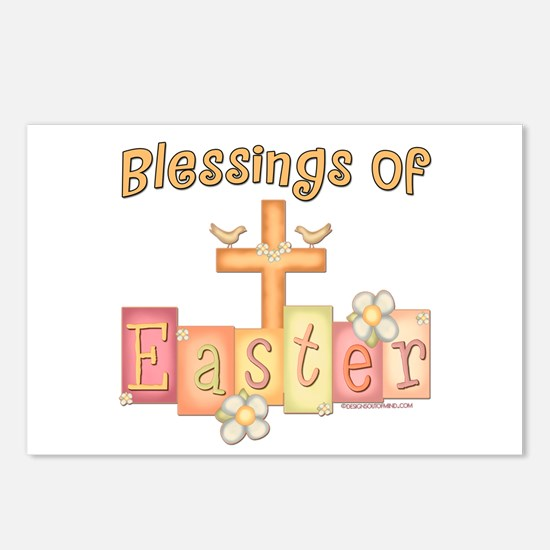 Easter Religion Blessings Postcards (Package of 8)