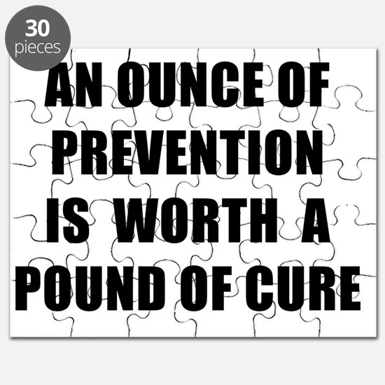 AN OUNCE OF PREVENTION - black Puzzle