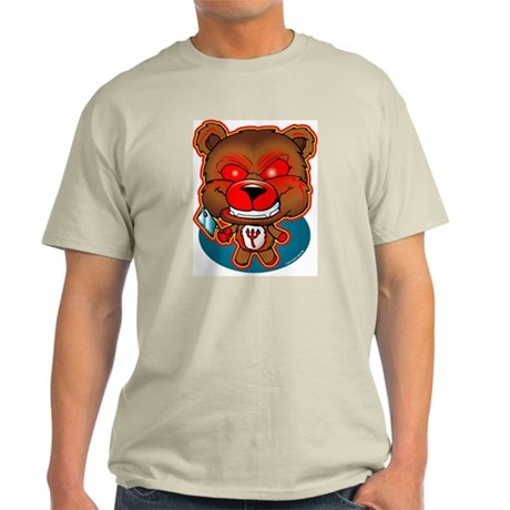 Possessed Teddy Bear Ash Grey T-Shirt