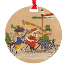 Vintage Christmas, Santa Claus Ridi Ornament