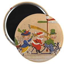 Vintage Christmas, Santa Claus Riding a Bic Magnet