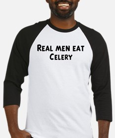 Men eat Celery Baseball Jersey