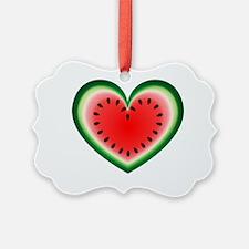 Watermelon Heart Picture Ornament