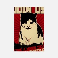 Hells Kitty Propaganda Poster Rectangle Magnet