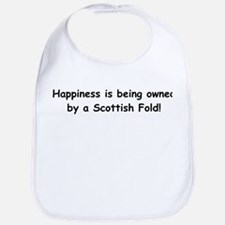 Happy Scottish Fold Bib