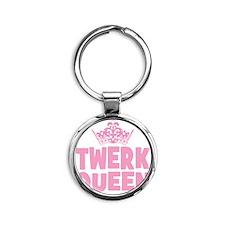 TwerkQueen copy Round Keychain
