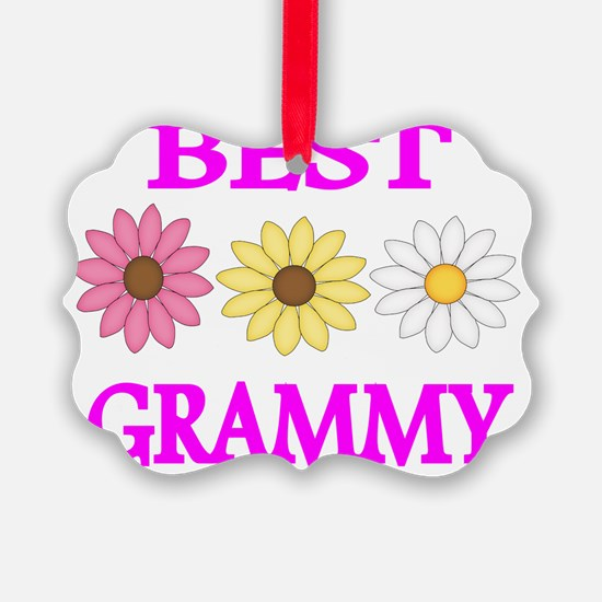 BEST GRAMMY   WITH FLOWERS 2 Ornament