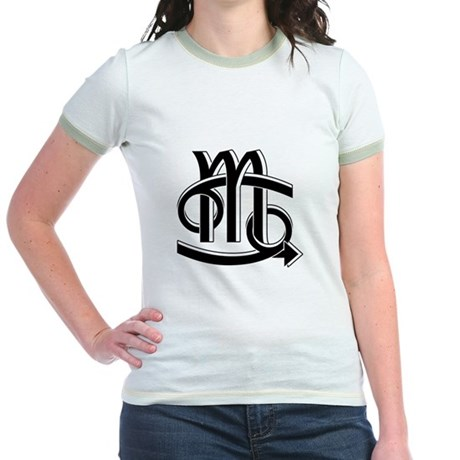 Cancer & Scorpio B/W Jr. Ringer T-Shirt