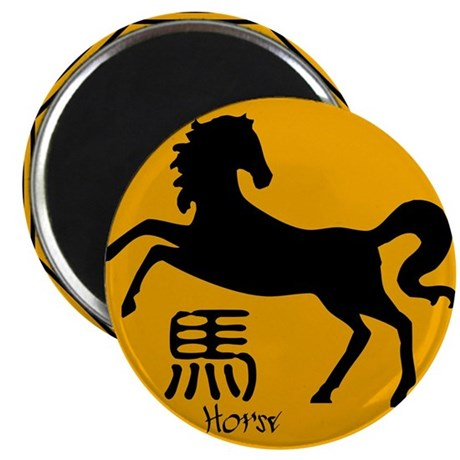 "Zodiac Horse Traffic Sign 2.25"" Magnet (100 pack)"