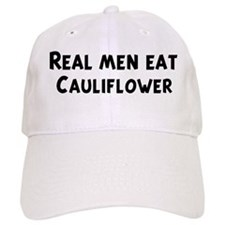 Men eat Cauliflower Baseball Cap