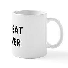 Men eat Cauliflower Small Mug