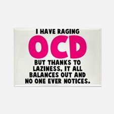 OCD and Laziness Rectangle Magnet
