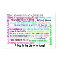 a day in the life of a nu Postcards (Package of 8)