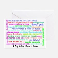a day in the life of a nurse 3 Greeting Card