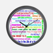a day in the life of a nurse large Wall Clock