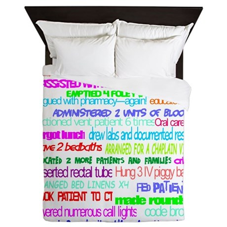 A Day In The Life Of A Nurse Large Queen Duvet By Admin