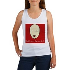 Bald and Beautiful on red Women's Tank Top