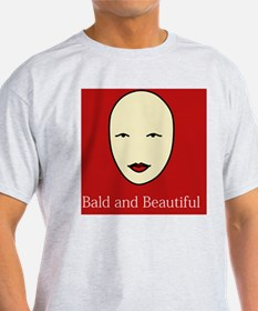 Bald and Beautiful on red T-Shirt