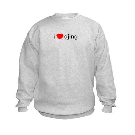 I Love DJing Kids Sweatshirt