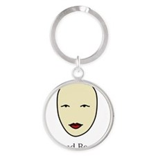 Bald is Beautiful Round Keychain