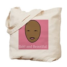 Bald and Beautiful on pink Tote Bag