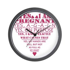 Yes I am Pregnant.  Yes, AGAIN. Wall Clock