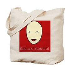 Bald is Beautiful on red Tote Bag
