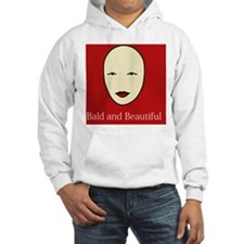 Bald is Beautiful on red Hoodie