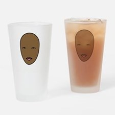 bald and beautiful pink and white t Drinking Glass