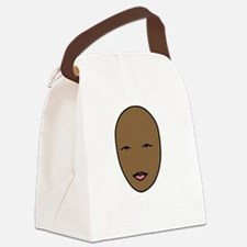 bald and beautiful pink and white Canvas Lunch Bag