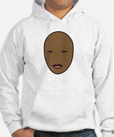bald and beautiful pink and whit Hoodie