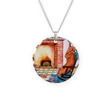 Dachshunds by the Hearth Necklace